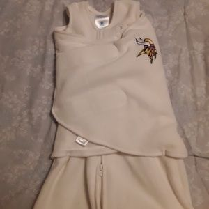 MN Vikings Baby Swaddle Blanket Size New Born